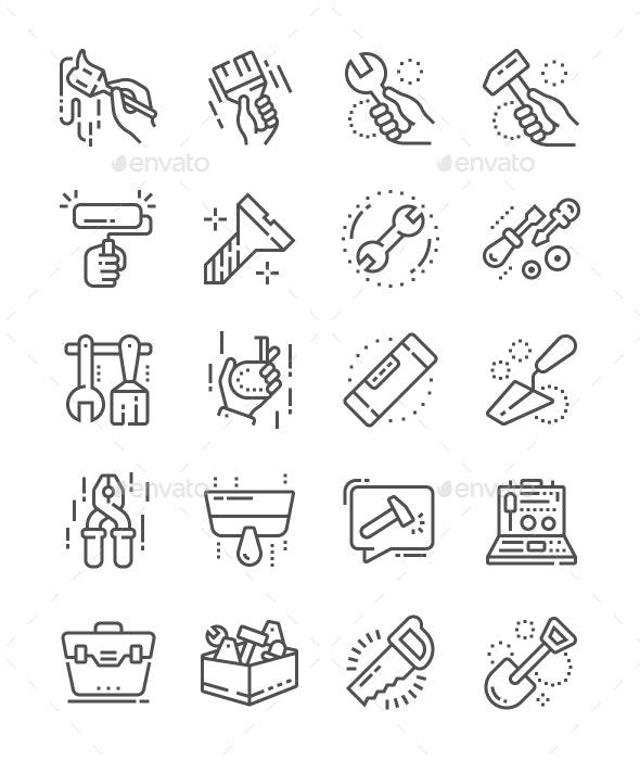 Tools Line Icons - Web Icons