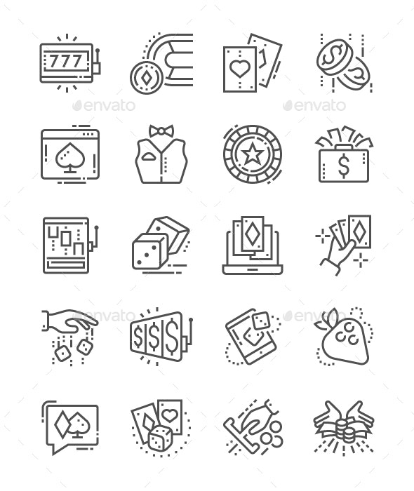 Gambling Line Icons - Business Icons