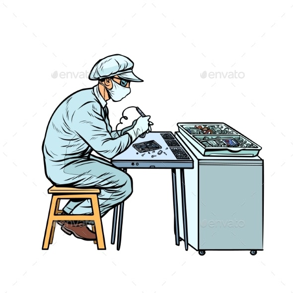 Worker in Electronics Factory - Industries Business