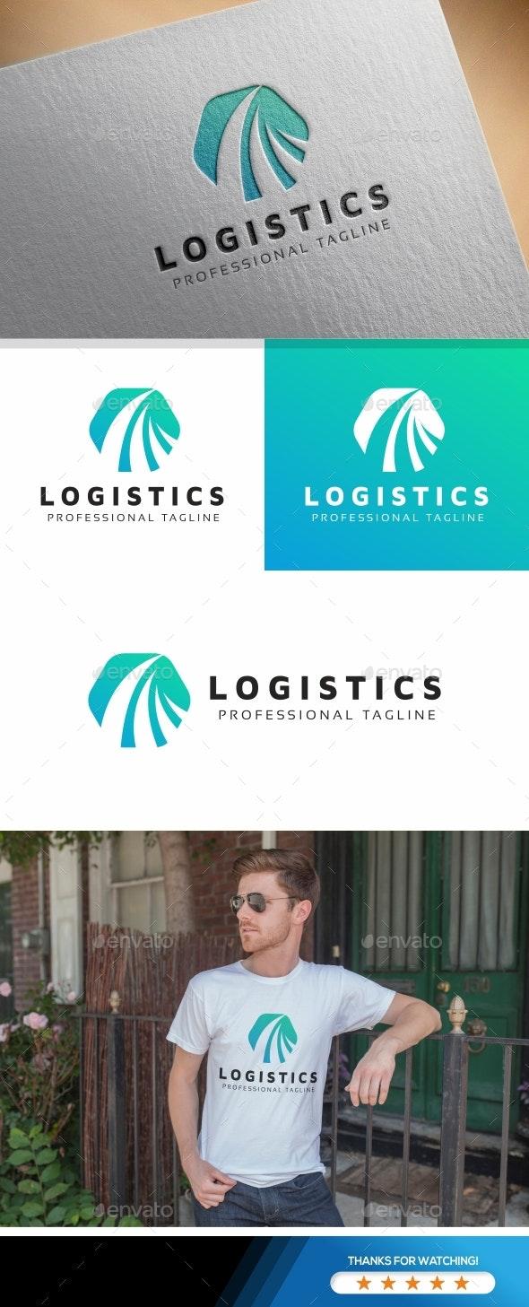 Hexagon Logistics Logo - Abstract Logo Templates