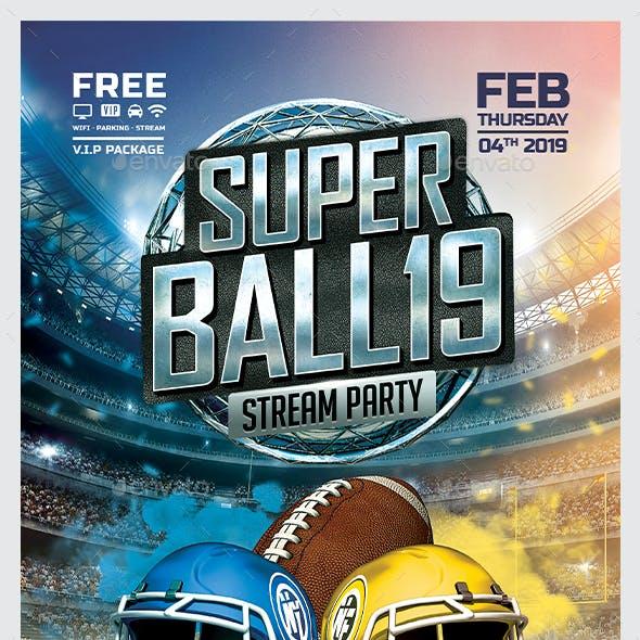 NFL - American Football Flyer
