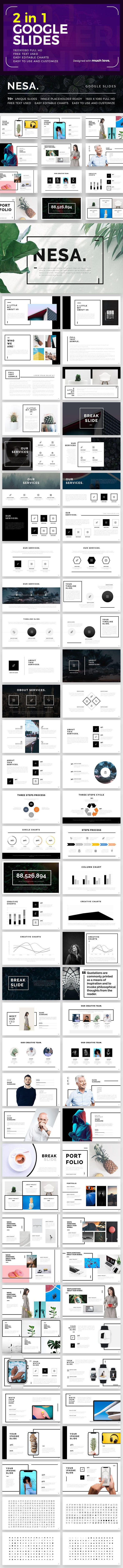 2 in 1 Google Slide Bundle - Google Slides Presentation Templates
