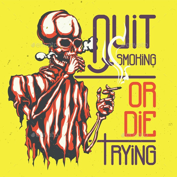 Quit Smoking Design - Health/Medicine Conceptual