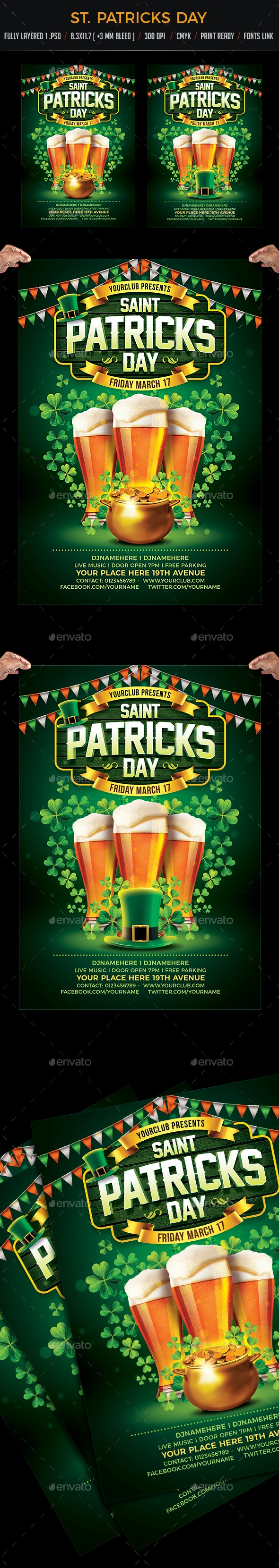 St. Patricks Day Party Flyer - Events Flyers