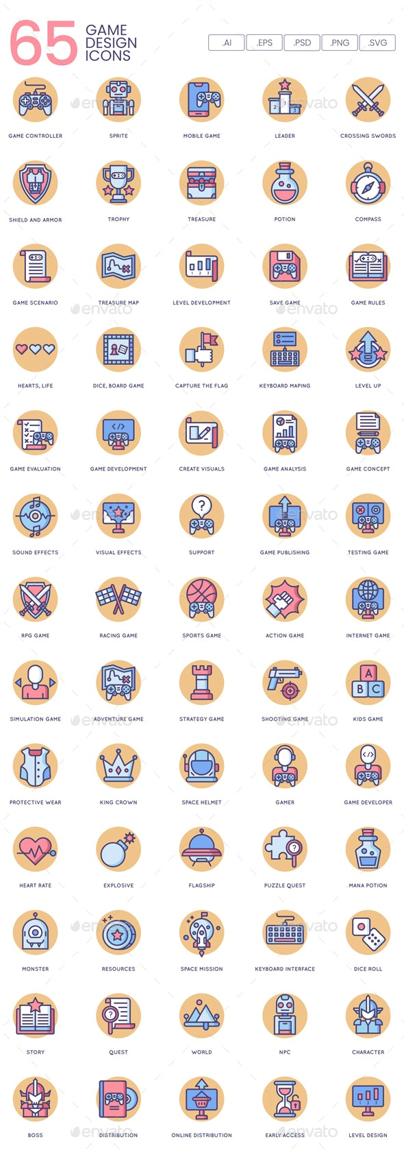 Game Design Icons - Butterscotch - Software Icons