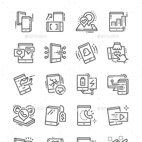 Tablet Line Icons