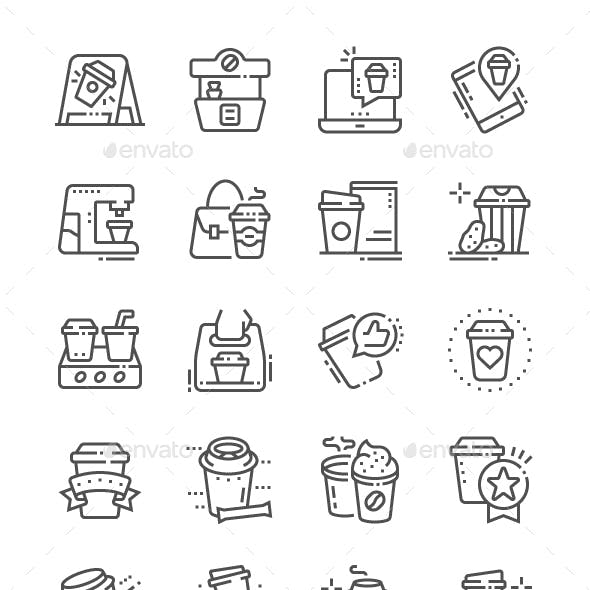 Coffee to go Line Icons