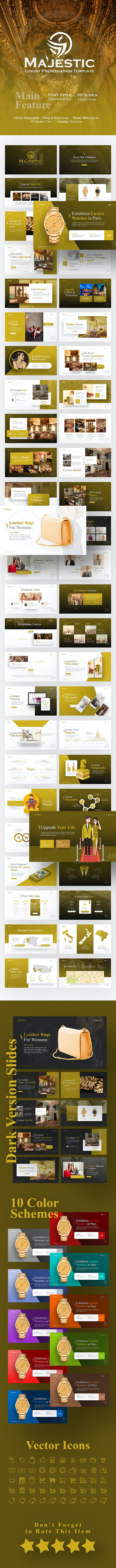 Majestic Luxury PowerPoint Template - PowerPoint Templates Presentation Templates