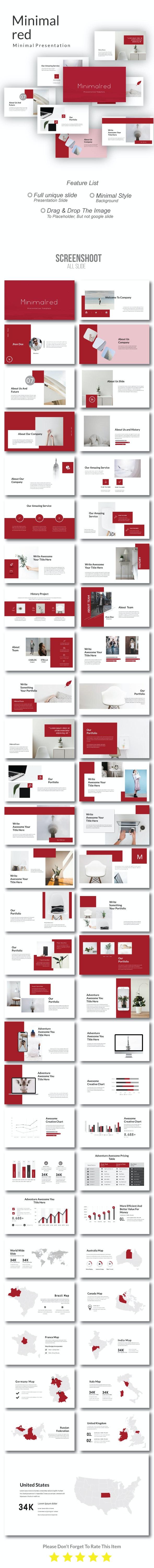 Minimalred Creative Google Slide - Creative PowerPoint Templates