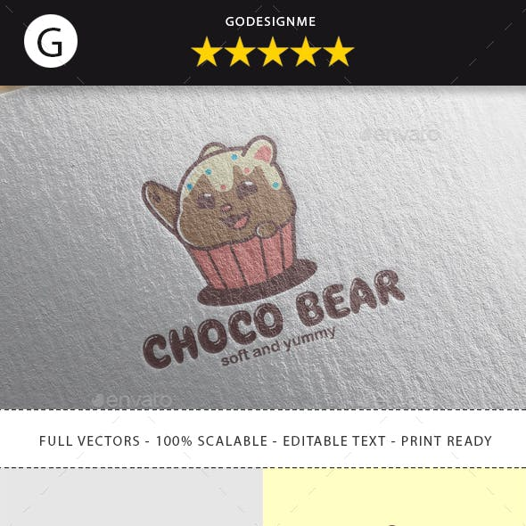 Choco Bear Logo Design