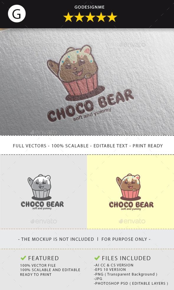 Choco Bear Logo Design - Vector Abstract