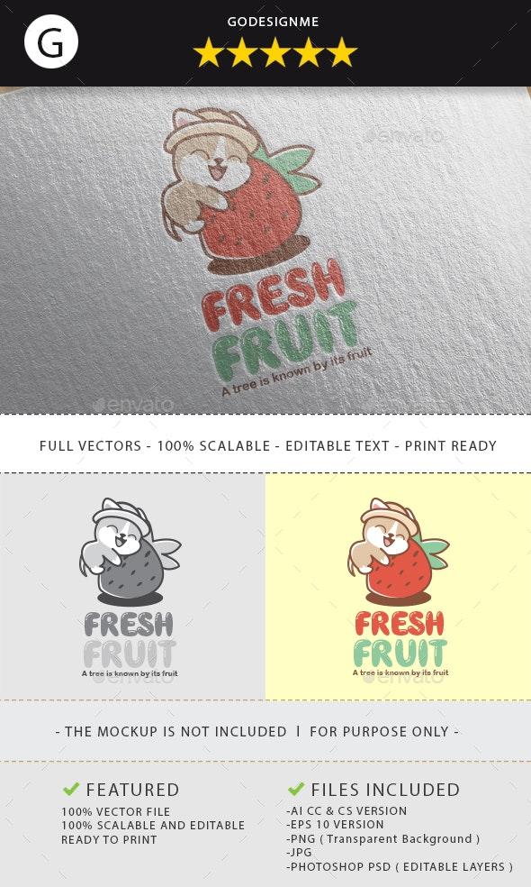Fresh Fruit Logo Design - Vector Abstract