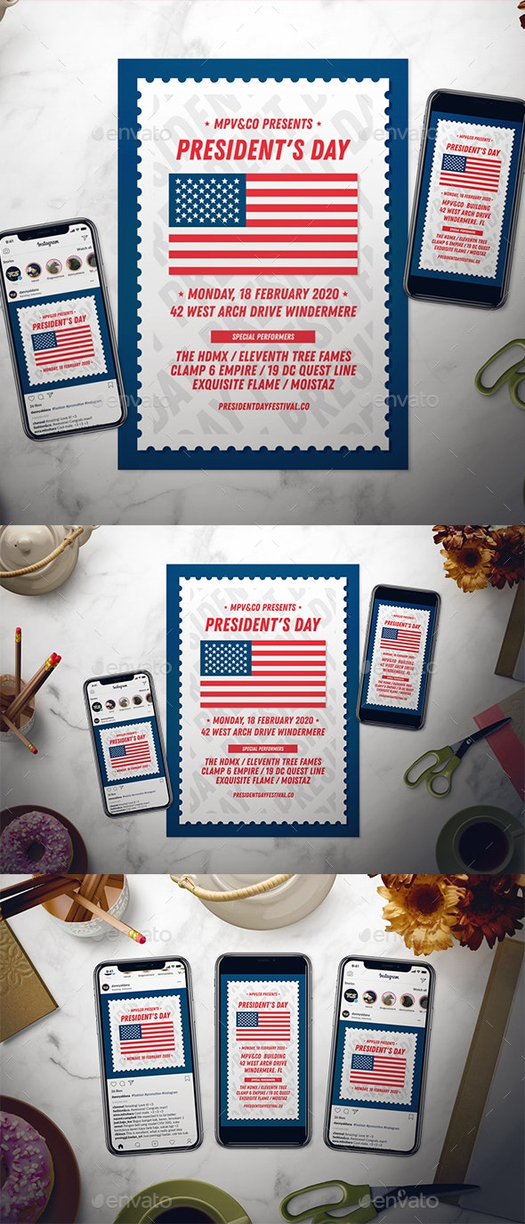 President's Day Flyer Set - Events Flyers