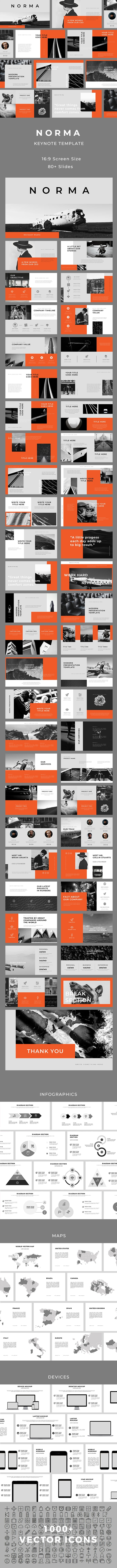 Norma Keynote Template - Creative Keynote Templates