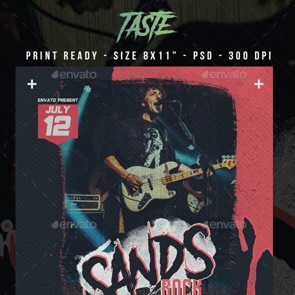 Sans Rock Concert Flyer