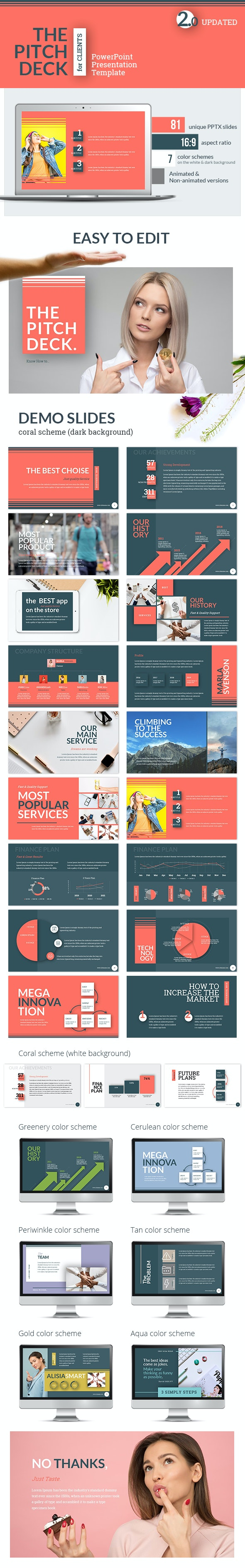 Pitch Deck for Clients PowerPoint Presentation Template - Pitch Deck PowerPoint Templates