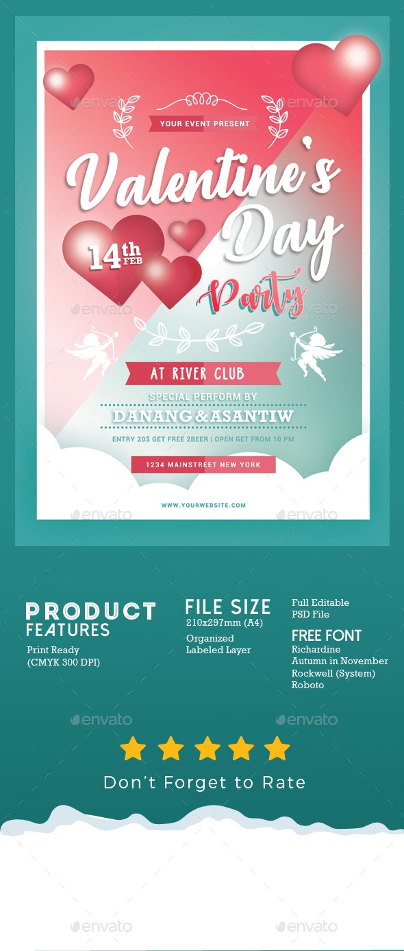 Valentines Day Party - Events Flyers