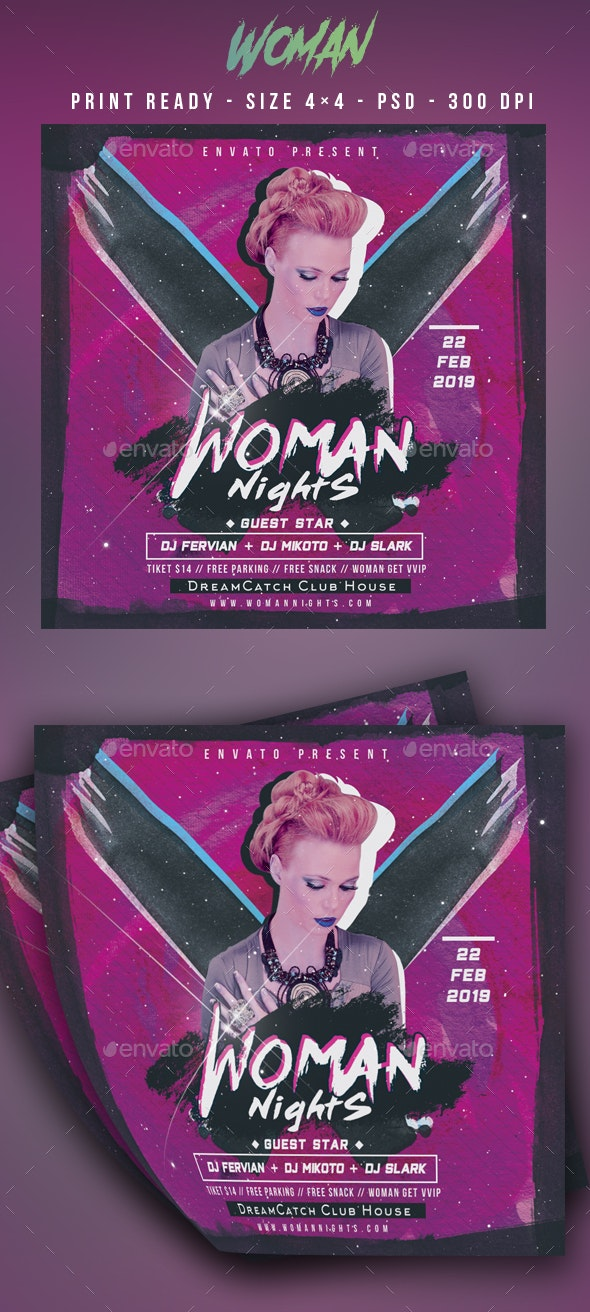 Woman Night Party Flyer - Clubs & Parties Events