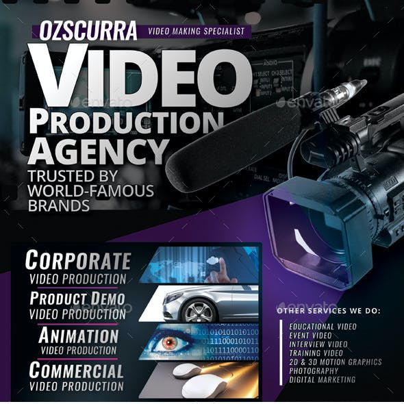Video Production Agency Flyer Templates