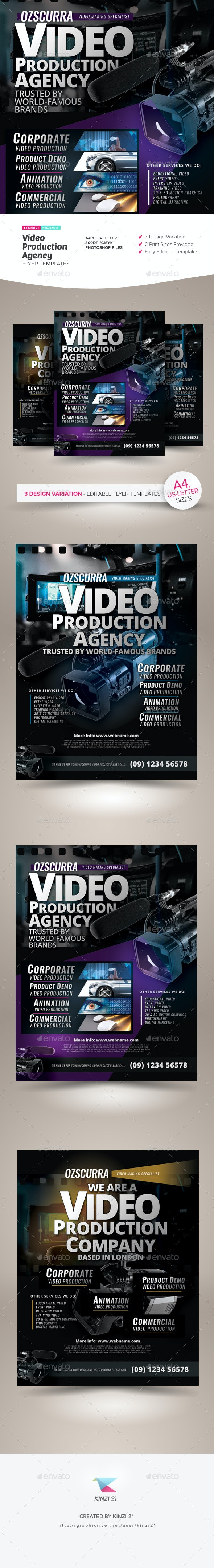 Video Production Agency Flyer Templates - Corporate Flyers