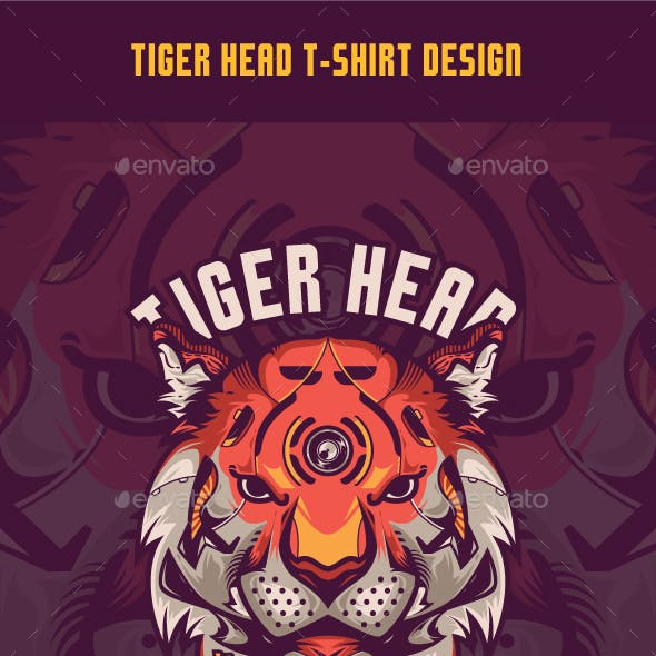 Tiger Head T-Shirt Design