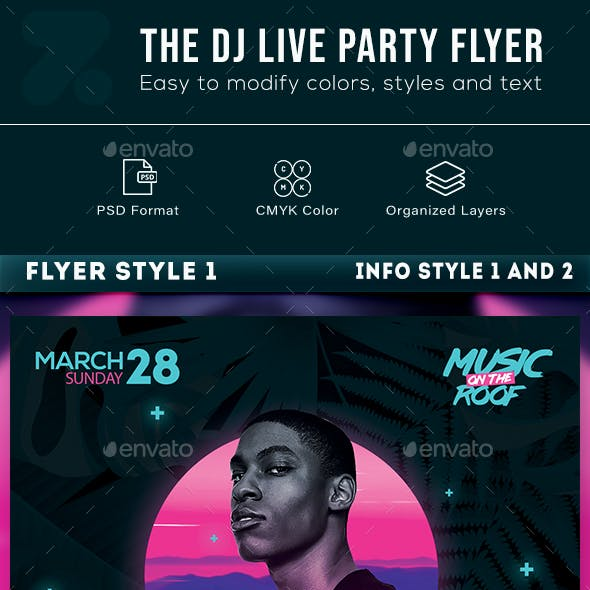 The Dj Live Party Flyer