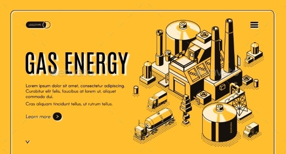 Gas Energy Industry Company Vector Website - Industries Business