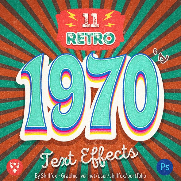 1970's Retro Text Effects