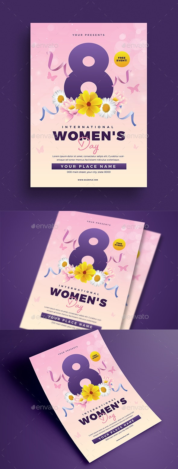 Womens Day Flyer - Flyers Print Templates
