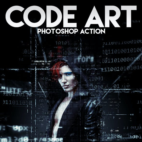 Code Art Photoshop Action