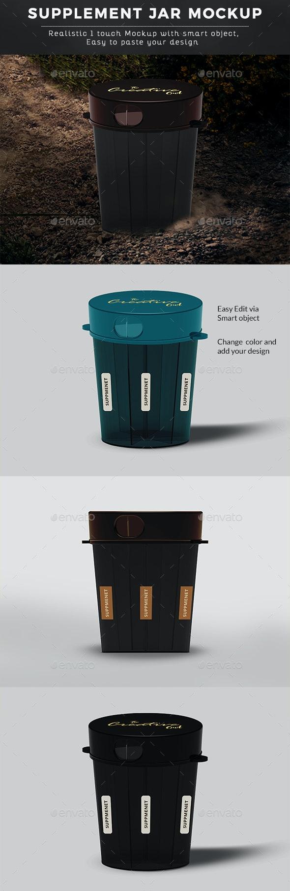 Supplement Jar - Product Mock-Ups Graphics