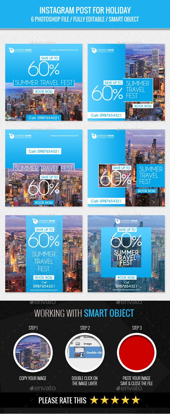 Instagram Post for Holiday - Banners & Ads Web Elements
