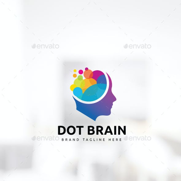 Human Colorful Brain Logo