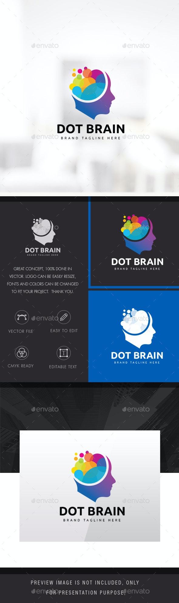 Human Colorful Brain Logo - Humans Logo Templates