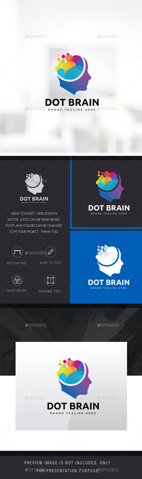 Human Colorful Brain Logo - Humans Logo Templates