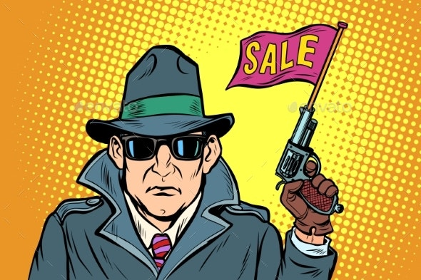 Spy Secret Agent Start Sales - Business Conceptual