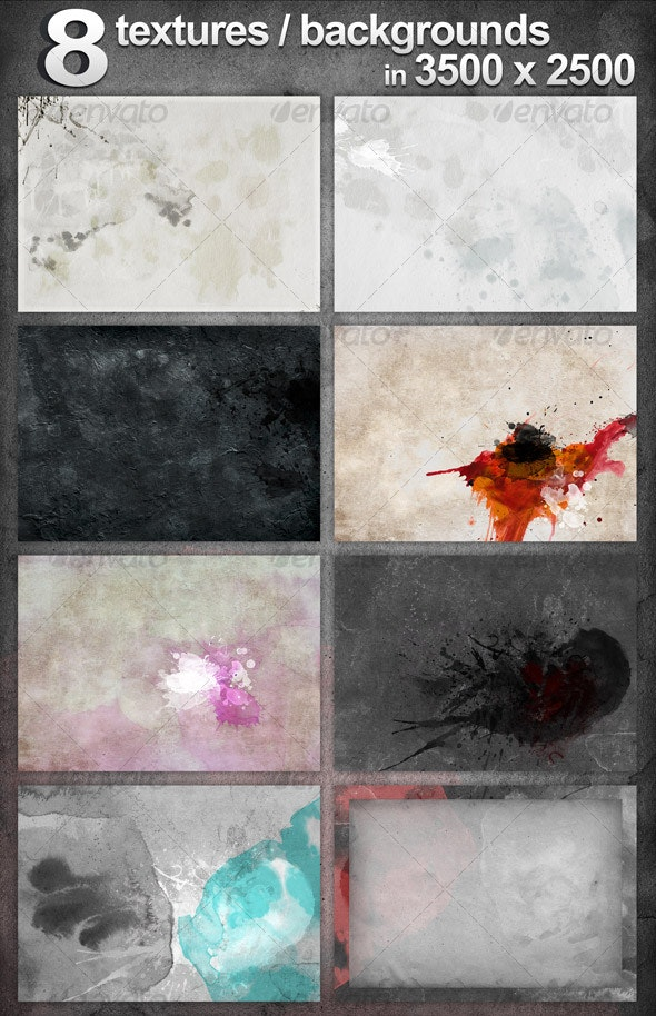 8 Dirty Backgrounds / Textures - Backgrounds Graphics