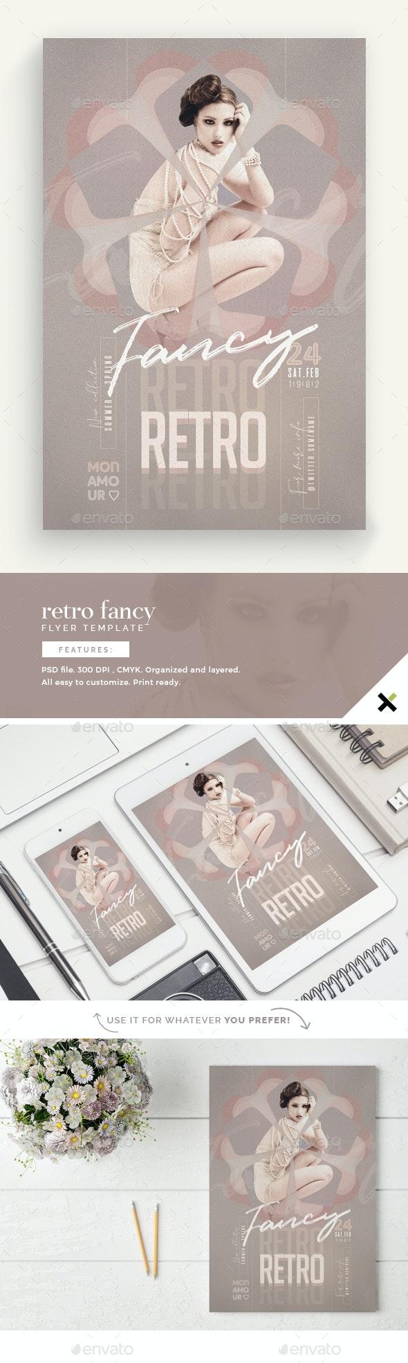 Retro Fancy Flyer Template - Flyers Print Templates