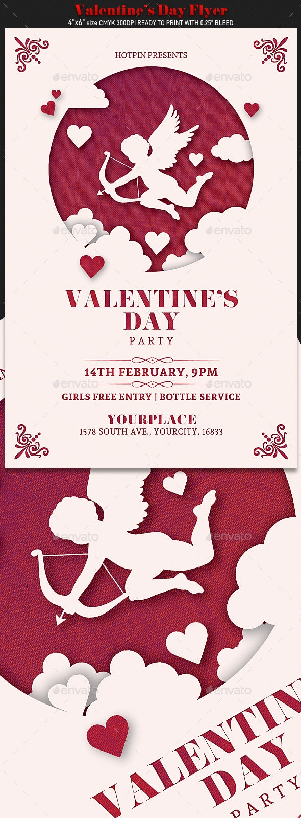Valentines Day Invitation Flyer - Events Flyers