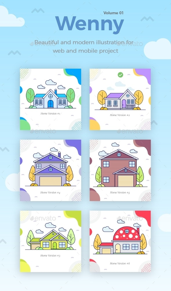 Wenny House Illustration - Buildings Objects