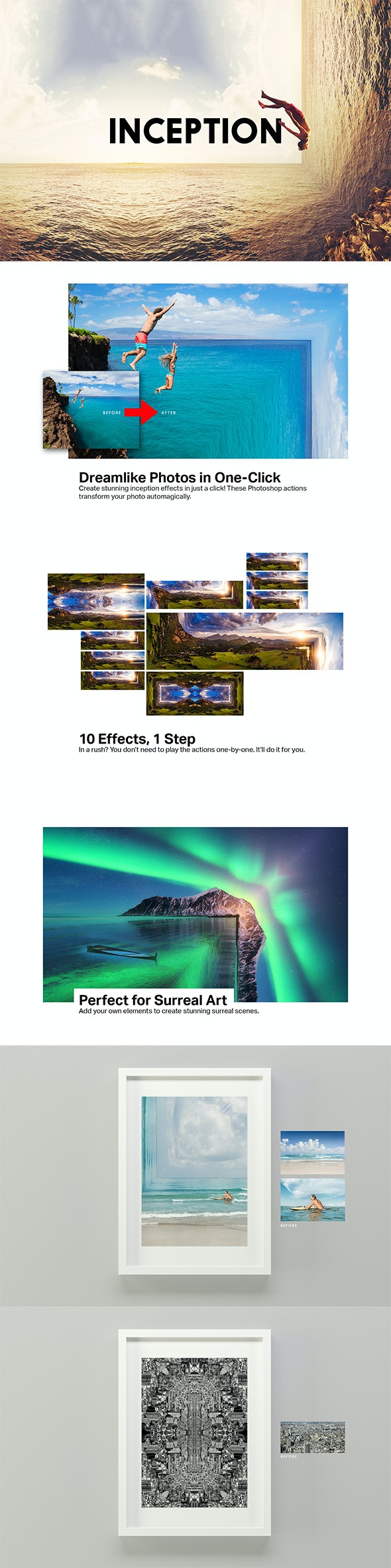 Inception - 10 Photoshop Actions - Photo Effects Actions