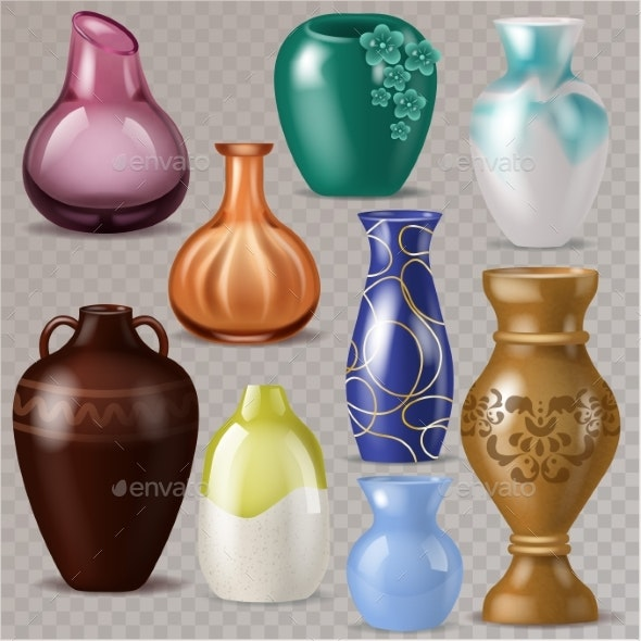Vase Vector Decorative Classic Pot and Decor - Man-made Objects Objects
