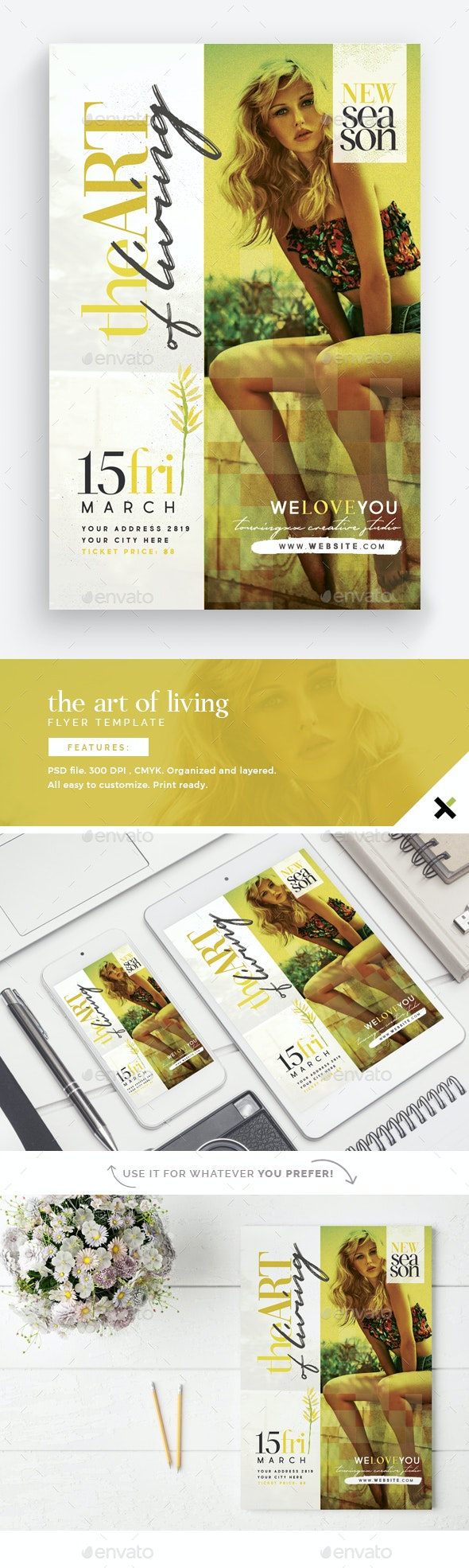 The Art Of Living Flyer Template - Events Flyers