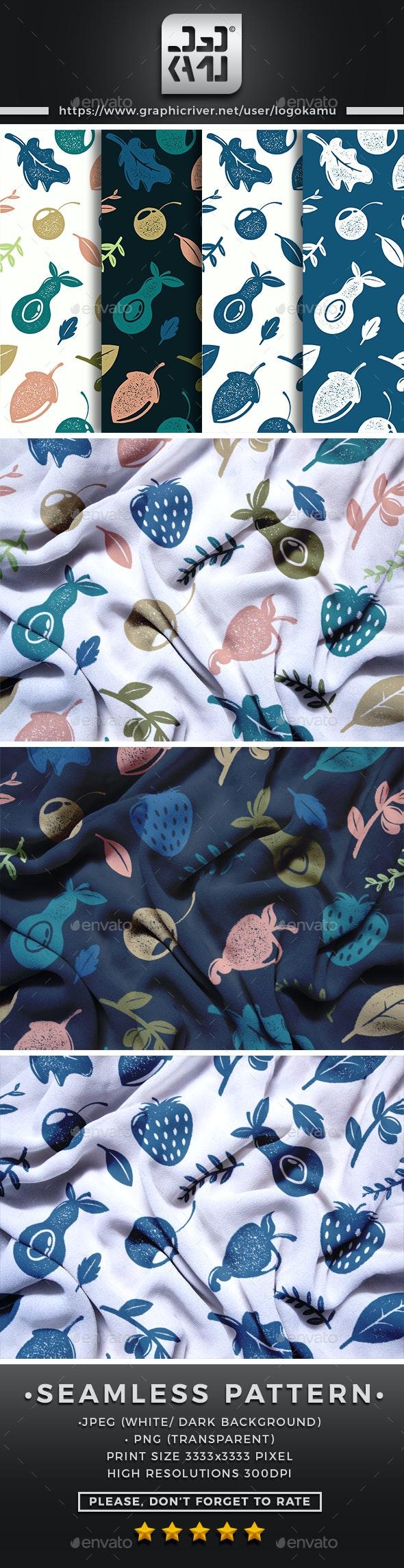 Rustic Nature Seamless Pattern - Patterns Backgrounds