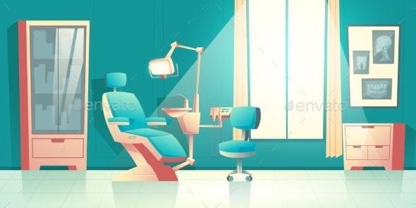 Vector Cabinet of Dentist - Health/Medicine Conceptual