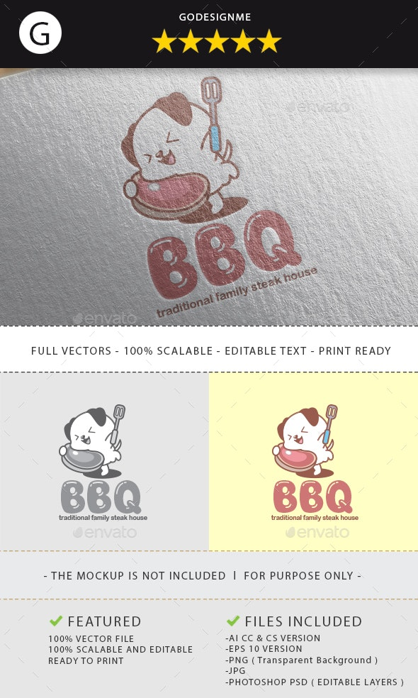 BBQ Logo Design - Vector Abstract