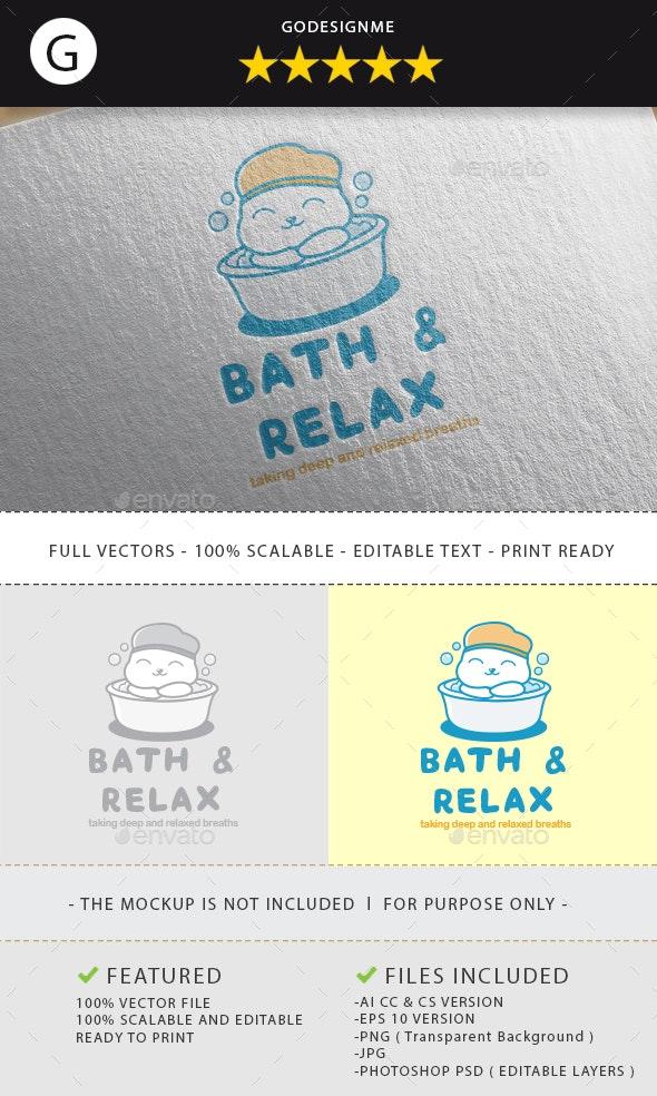 Bath & Relax Logo Design - Vector Abstract