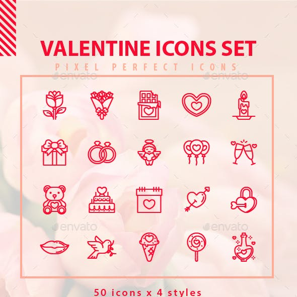 Valentine Icons Set