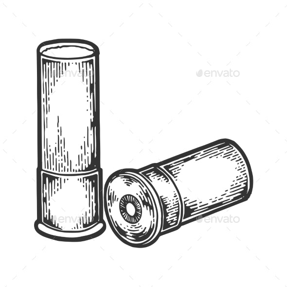 Shotgun Cartridge Engraving Vector Illustration - Miscellaneous Vectors