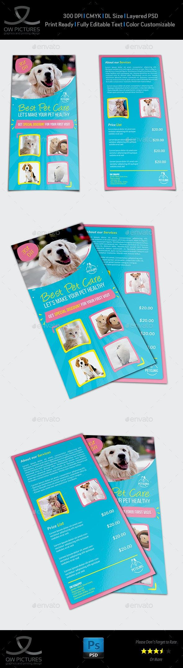 Pet Care Center Flyer DL Size Template - Flyers Print Templates